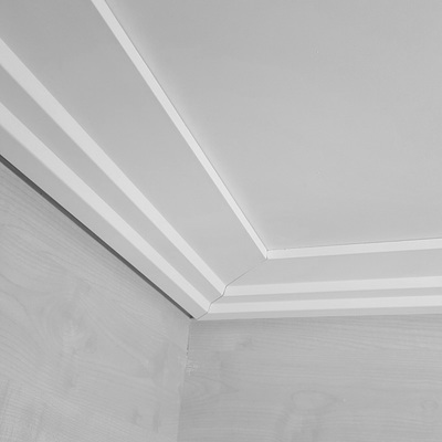 Ceiling coving art deco plaster 145mmx25m cs1962 for Coving for bathroom ceilings