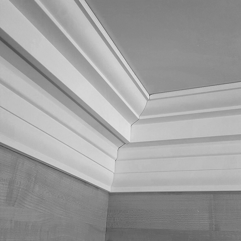 Grand Georgian Plaster Coving Ceiling 145mm X Wall 170mm