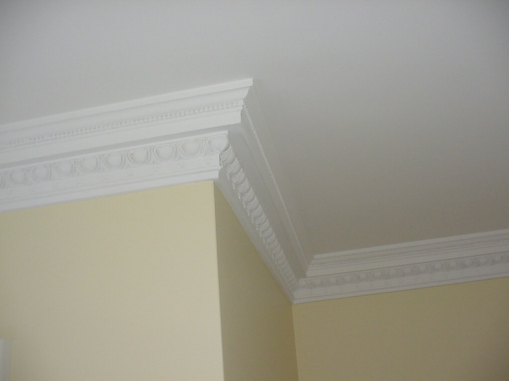 georgian cornice and egg dart coving